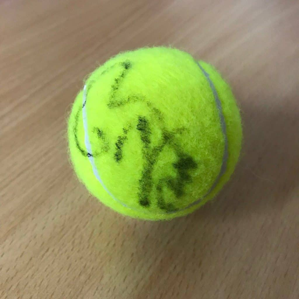 Nadal Signs Tennis Ball